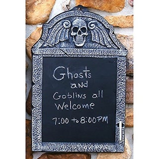 "22"" Chalkboard Tombstone Skull"