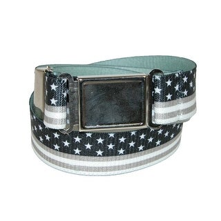 CTM® Kids' Magnetic Buckle USA Flag Elastic Stretch Belt