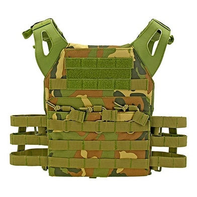 Junior Padded Tactical Vest - Green Woodland Camo thumbnail