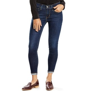 Levi's Womens Juniors Skinny Jeans Ankle Dark Wash