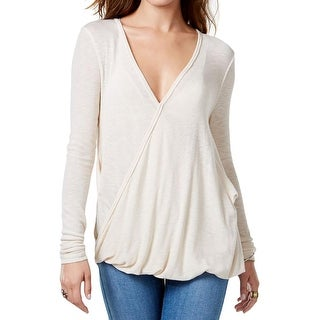 We The Free Womens Pullover Top Slub Bubble Hem