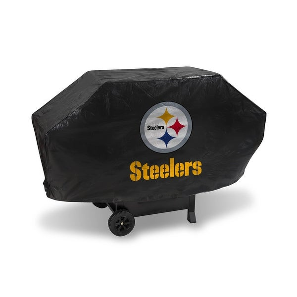 "68"" x 35"" Black and Yellow NFL Pittsburgh Steelers Executive Grill Cover - N/A"