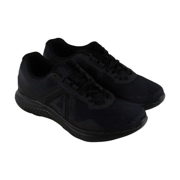 Reebok Reebok Astroride Run Edge Mens Black Mesh Athletic Training Shoes