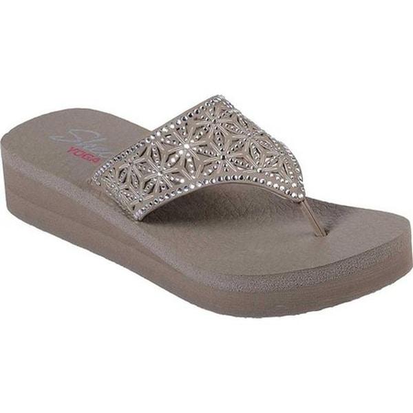 a0a5a8659baf Shop Skechers Women s Vinyasa Glass Star Thong Sandal Taupe - On ...