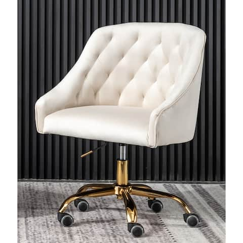 Best Master Furniture Gold Swivel and Adjustable Office Chair