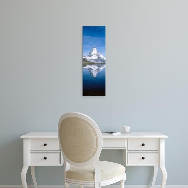 Easy Art Prints Panoramic Images's 'Lake, Mountains, Matterhorn, Zermatt, Switzerland' Premium Canvas Art