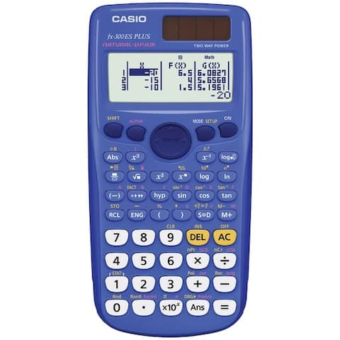 Casio Fx-300Esplus-Blu Fraction & Scientific Calculator (Blue)