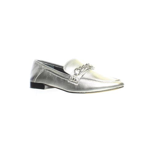 Dolce Vita Womens Cowan Silver Loafers Size 6.5