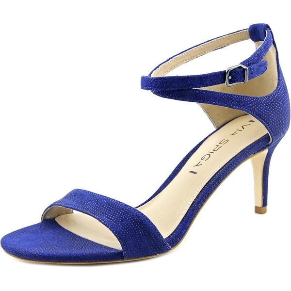 Via Spiga Leesa Women Open Toe Leather Blue Sandals