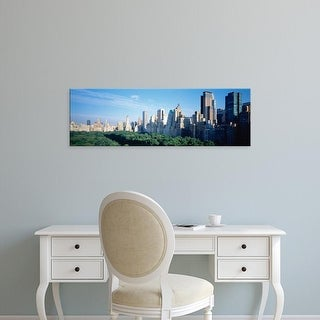Easy Art Prints Panoramic Images's 'Skylines along Central Park, Manhattan, New York City, New York State' Canvas Art