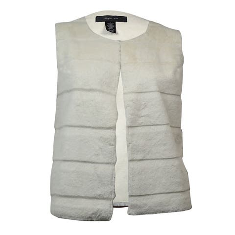Style & Co. Women's Sleeveless Faux Fur Vest