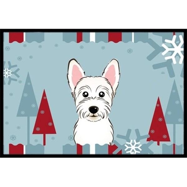 Carolines Treasures BB1722JMAT Winter Holiday Westie Indoor & Outdoor Mat 24 x 36 in.