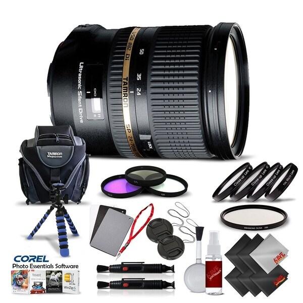 Tamron SP 24-70mm f/2.8 Di USD Lens for Sony International Version (No Warranty) Pro Kit - black