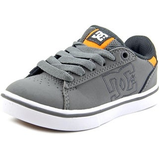 DC Shoes Notch Youth Round Toe Leather Gray Skate Shoe
