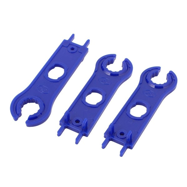 3pcs MC4 Solar Panel Connector Disconnecting Tool Spanners Wrench Blue