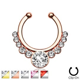 Helios with Gems Non-Piercing Septum Hanger (Sold Ind.)
