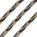 Parachute Cord, Multi-Colored Nylon Strands 2.5mm Thick, 5 Meters, Beige / Black - Thumbnail 0