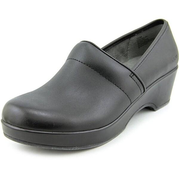 JBU by Jambu Cordoba Women  Round Toe Leather Black Clogs