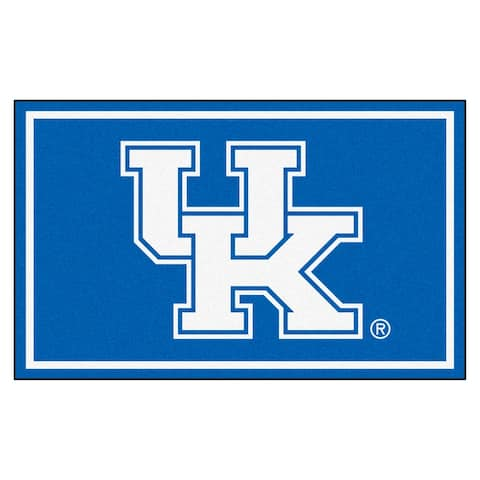 NCAA University of Kentucky Wildcats 4 x 6 Foot Plush Non-Skid Area Rug