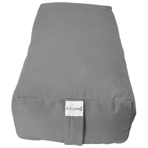 Sol Living Rectangular Yoga Bolster Meditation Cushion - Cotton