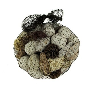 Neutral White Decorative Mushroom Mix Assorted Dried Botanicals In a Bag - 8 X 9 X 9 inches