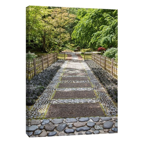 """PTM Images 9-105761 PTM Canvas Collection 10"""" x 8"""" - """"Garden's Entrance"""" Giclee Forests Art Print on Canvas"""