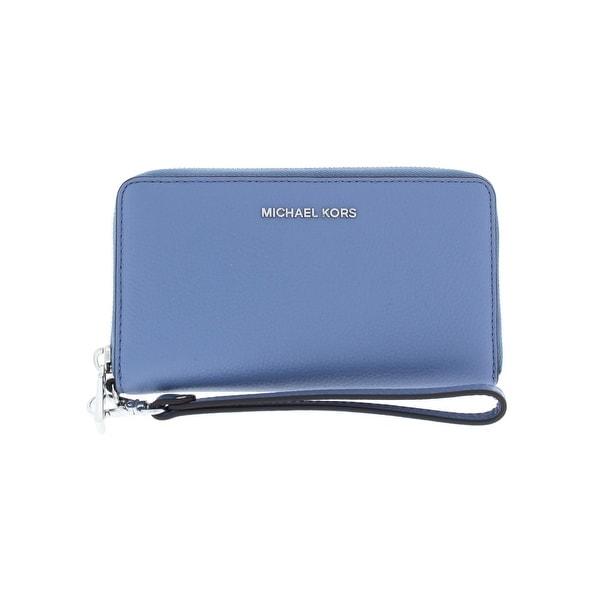 4e2d736fe40f Michael Kors Womens Mercer Wristlet Wallet Leather Identity Protection - o s