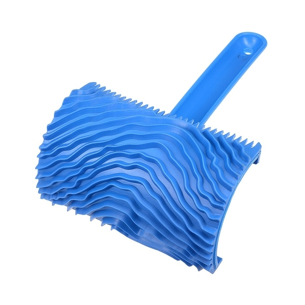 """Wood Grain Tool w Handle 6.3"""" Rubber Graining Pattern Stamp Wall Decoration - MS16-4 inch"""