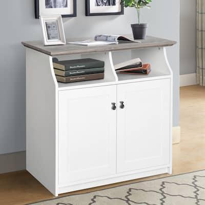 Saint Birch Finley White 2-door Vertical Filing Cabinet
