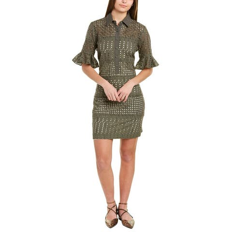 Nicole Miller Eyelet Shirtdress