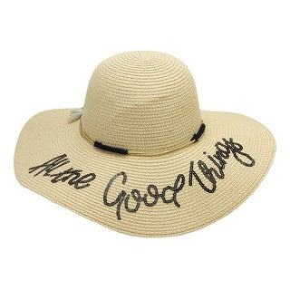 Chic Headwear All the Good Things Floppy Hat - One Size