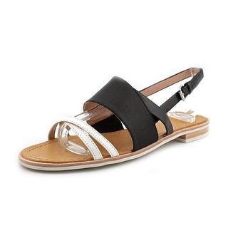 French Connection Hallie Women Open-Toe Synthetic Black Slingback Sandal