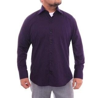 Bertigo Long Sleeve Collared Button Down Men Regular Dress Button