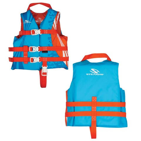 Stearns child antimicrobial life jacket wave 30-50 lbs