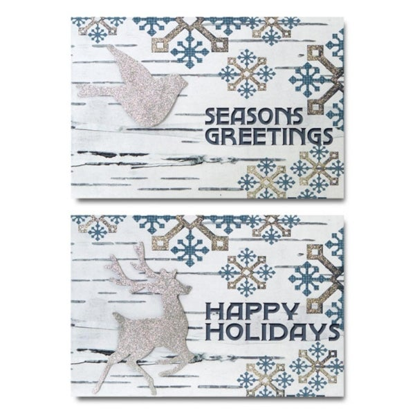 "Bird/Deer Wall Decor (2 Asst) 14""Wx9.5""H MDF"