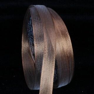 Sheer Metallic Copper Wired Craft Ribbon 16mm x 100 Yards