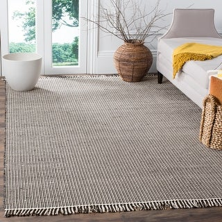 Link to Safavieh Handmade Flatweave Montauk Rukhsana Casual Cotton Rug with Fringe Similar Items in Transitional Rugs