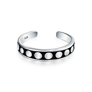Bling Jewelry 925 Sterling Silver Dot Mid Finger Ring Bali Style Toe Rings