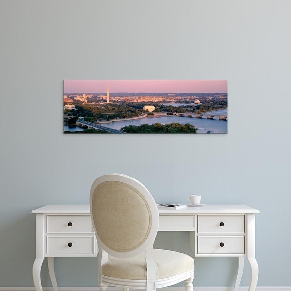 Easy Art Prints Panoramic Images's 'Aerial, Washington DC, District Of Columbia, USA' Premium Canvas Art