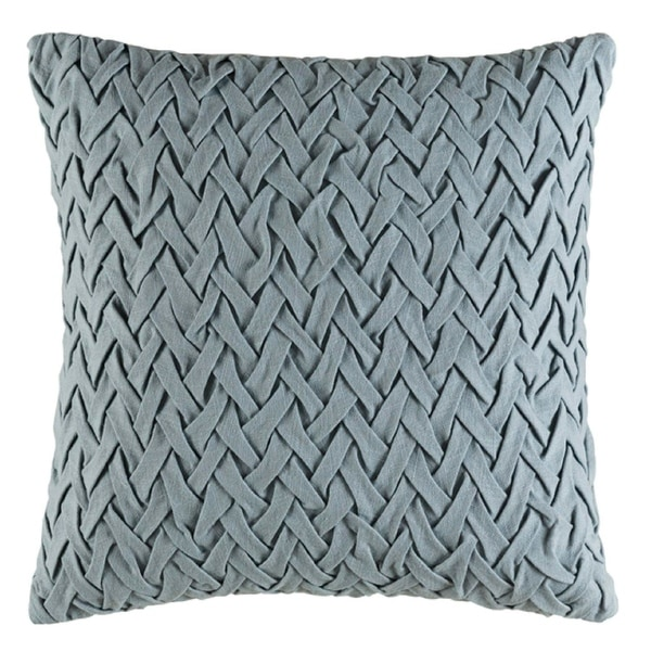 "20"" Woven Wedgewood Gray Decorative Throw Pillow- Down Filler"