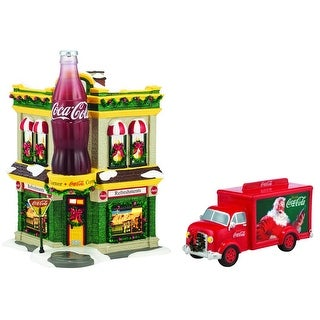 Department 56 4059675 Coca Cola Corner Fountain Set, Multicolored