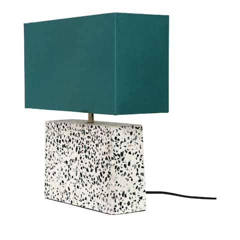 Aurelle Home Rectangular Marble Retro l Table Lamp