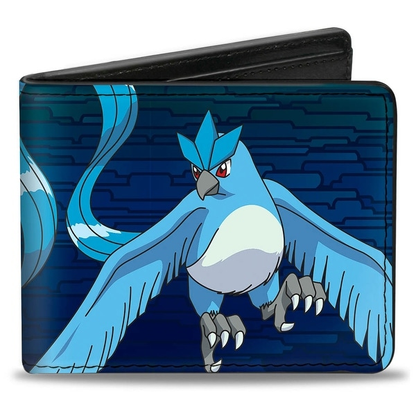Articuno Flying Pose2 + Text Blues Bi Fold Wallet - One Size Fits most