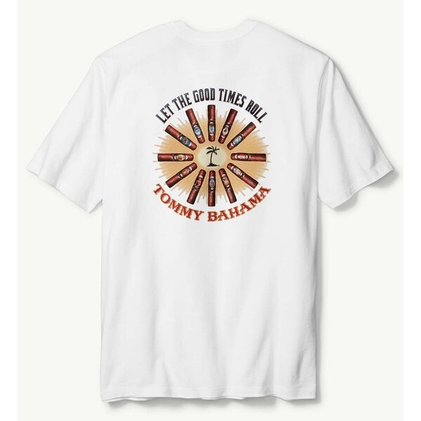Tommy Bahama Let The Good Times Roll XX-Small White T-Shirt