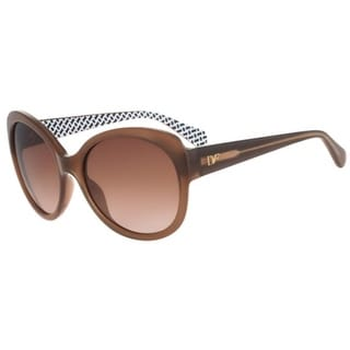 Diane Von Furstenberg Womens Lila Butterfly Sunglasses Oversized UV Protection - blush - o/s