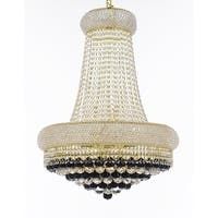 French Empire Crystal Chandelier Gold 15 Lights