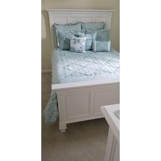 Copper Grove Burwell 9-piece Aqua Cotton Percale Comforter Set