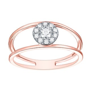 Prism Jewel 0.31Ct G-H/SI1 Natural Diamond Stylist Fancy Ring - White