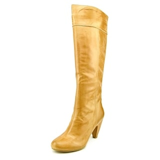 Chinese Laundry Down To It Women  Round Toe Leather Brown Knee High Boot