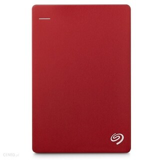 "Seagate Backup Plus Slim Portable 1 Terabyte (1TB) SuperSpeed USB 3.0 2.5"" External Hard Drive (Red) - 0.5 x 3.0 x 4.5"